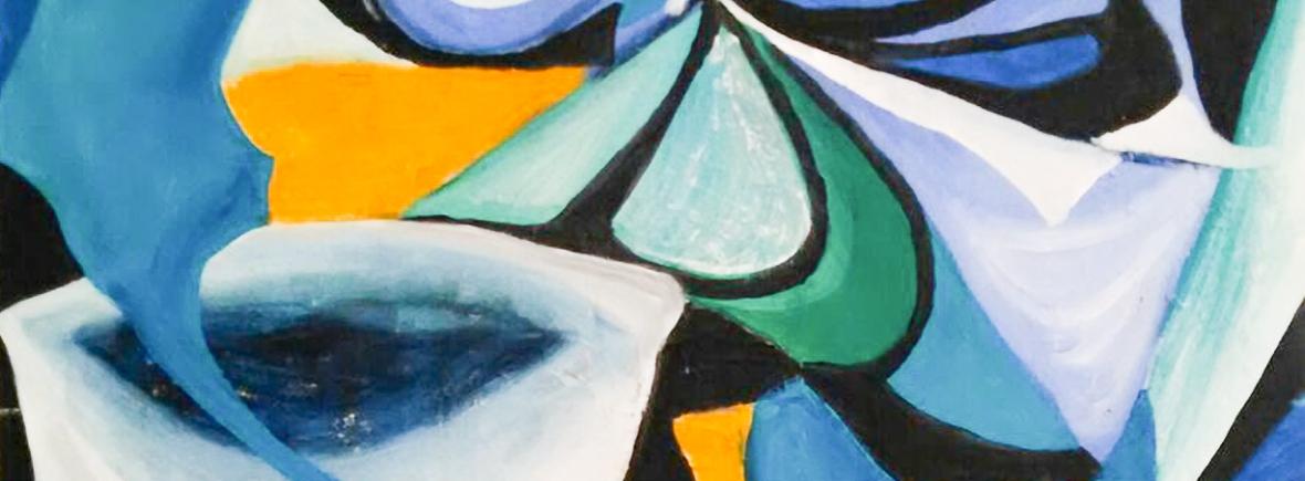 blue dominant shades abstract artwork abstract blue mood sensation