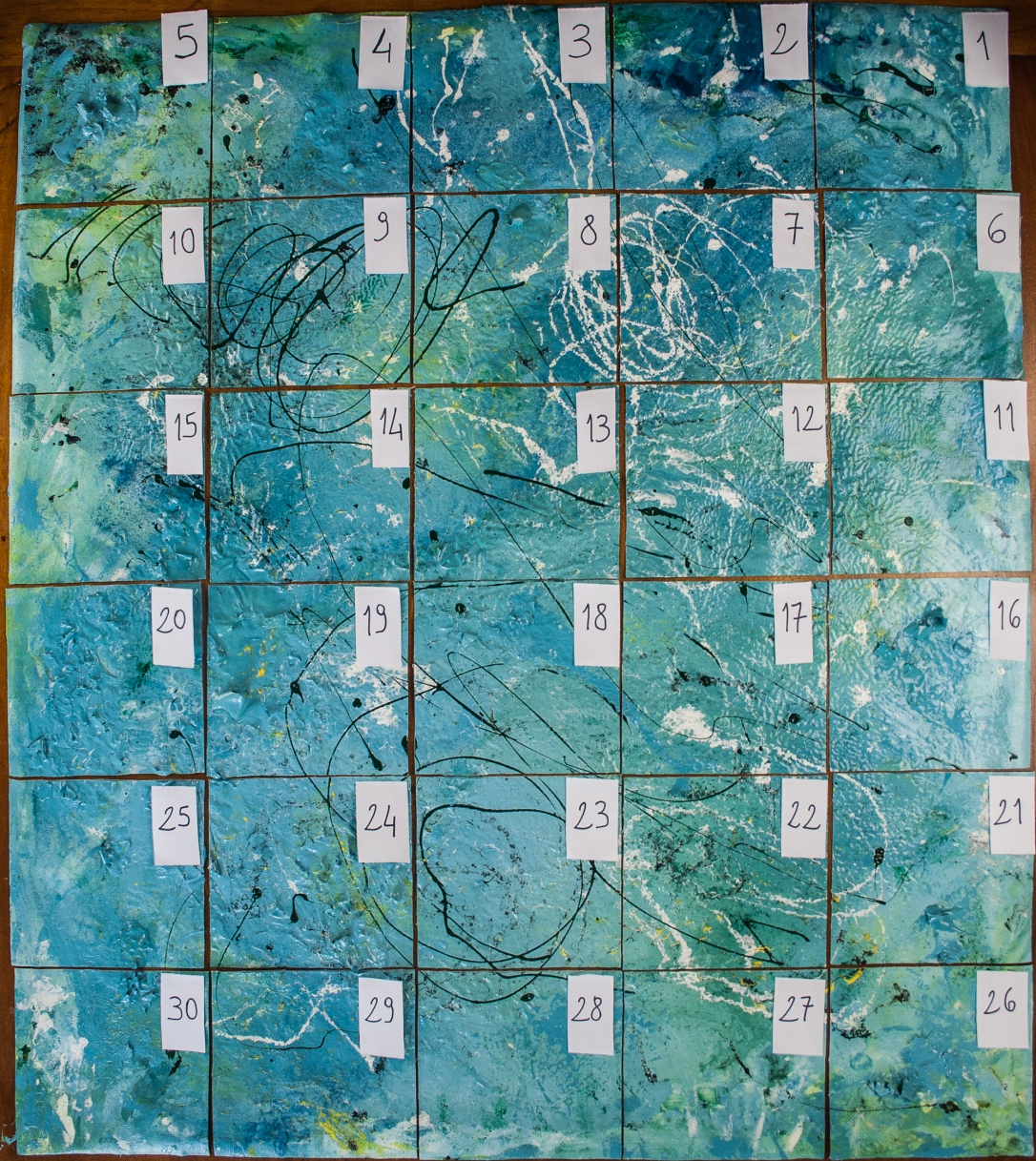 pieces paintintg grid