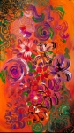 abstract colorful flower garden modern art composition