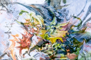 fluid objects art abstraction: colorful mottled image with floating shapes phoptography painting art fusion