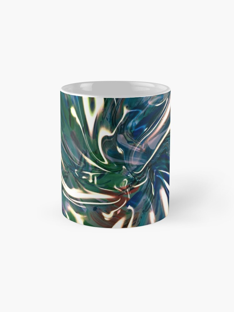 classic mug with liquid vortex pattern