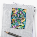multicolored abstract cmposition design sticker