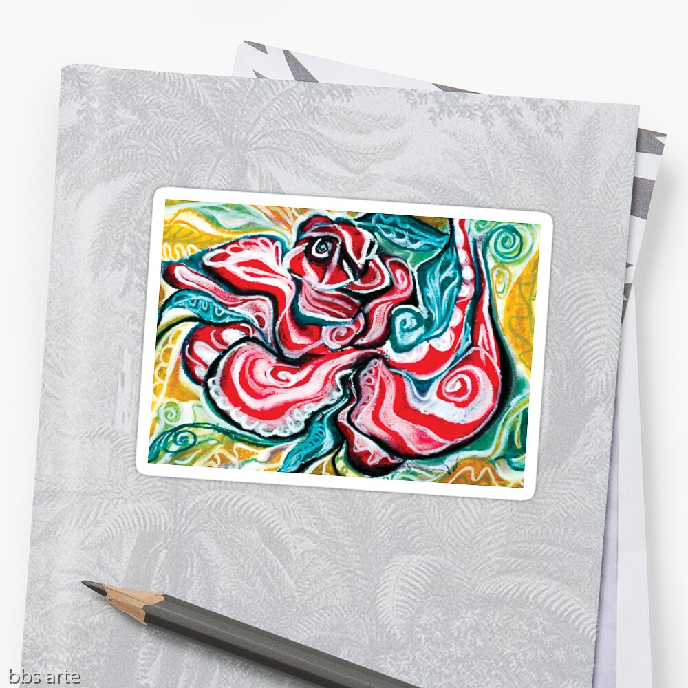 xmas design sticker with Christmas colors abstract image in tones of red green, white, black and yellow