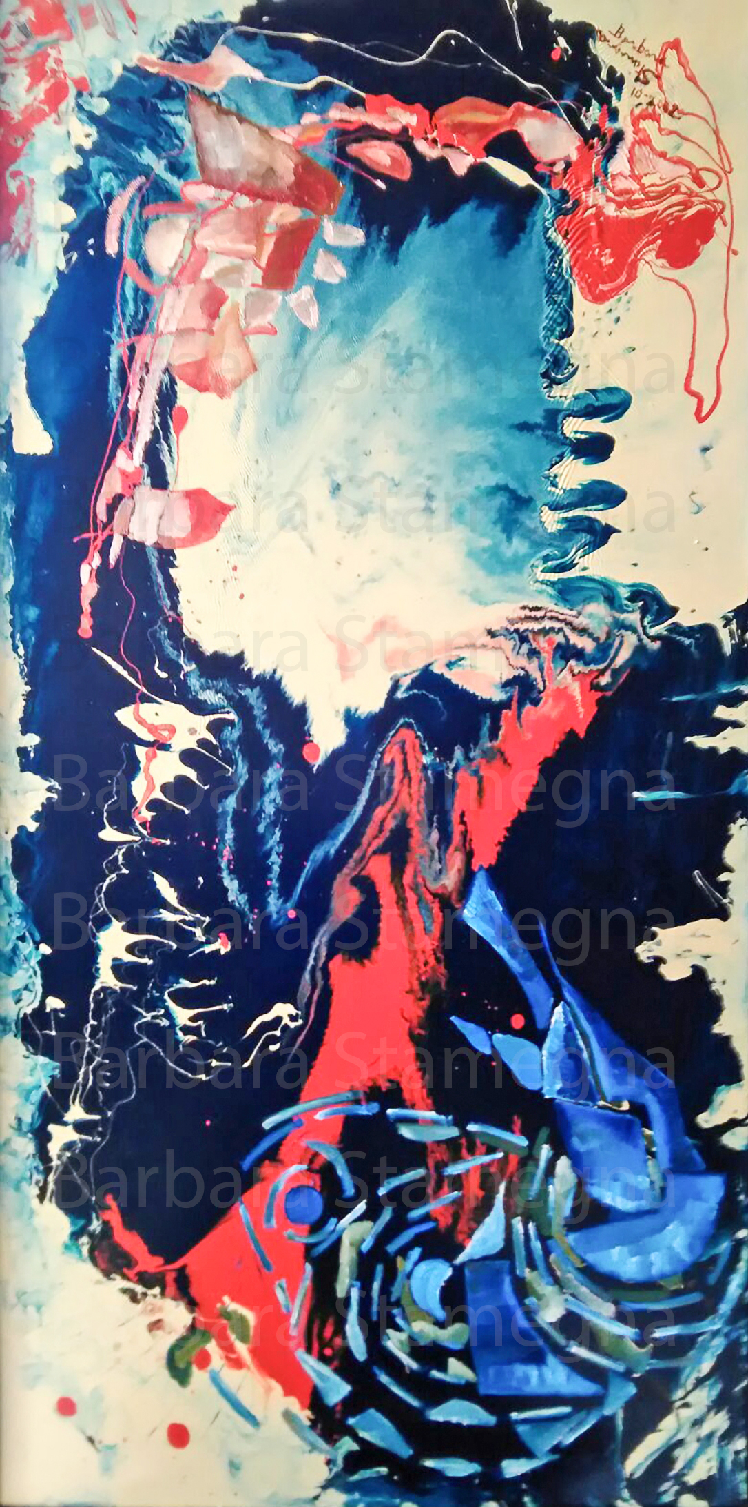 abstract opposites painting created by Barbara Stamegna